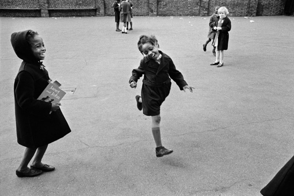 Jürgen Schadeberg School playground Brixton, London, 1968 Signed and titled Gelatin silver print
