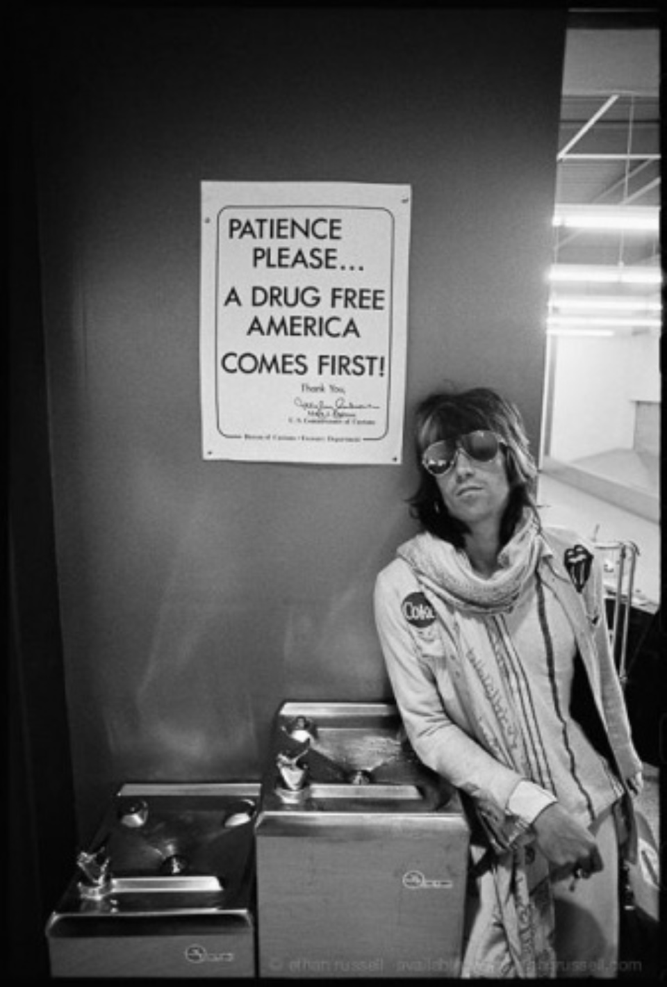 """Ethan Russell: Keith Richards """"Patience please"""" 1972 Silver Gelatin Print"""