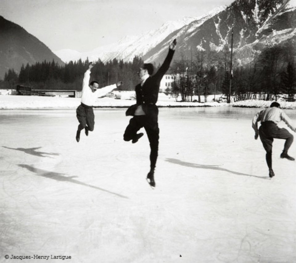 Jacques-Henri Lartigue: Chamonix 1918 Gelatin Silver Print Embossed on recto Estate stamp on verso 40 x 30 cm