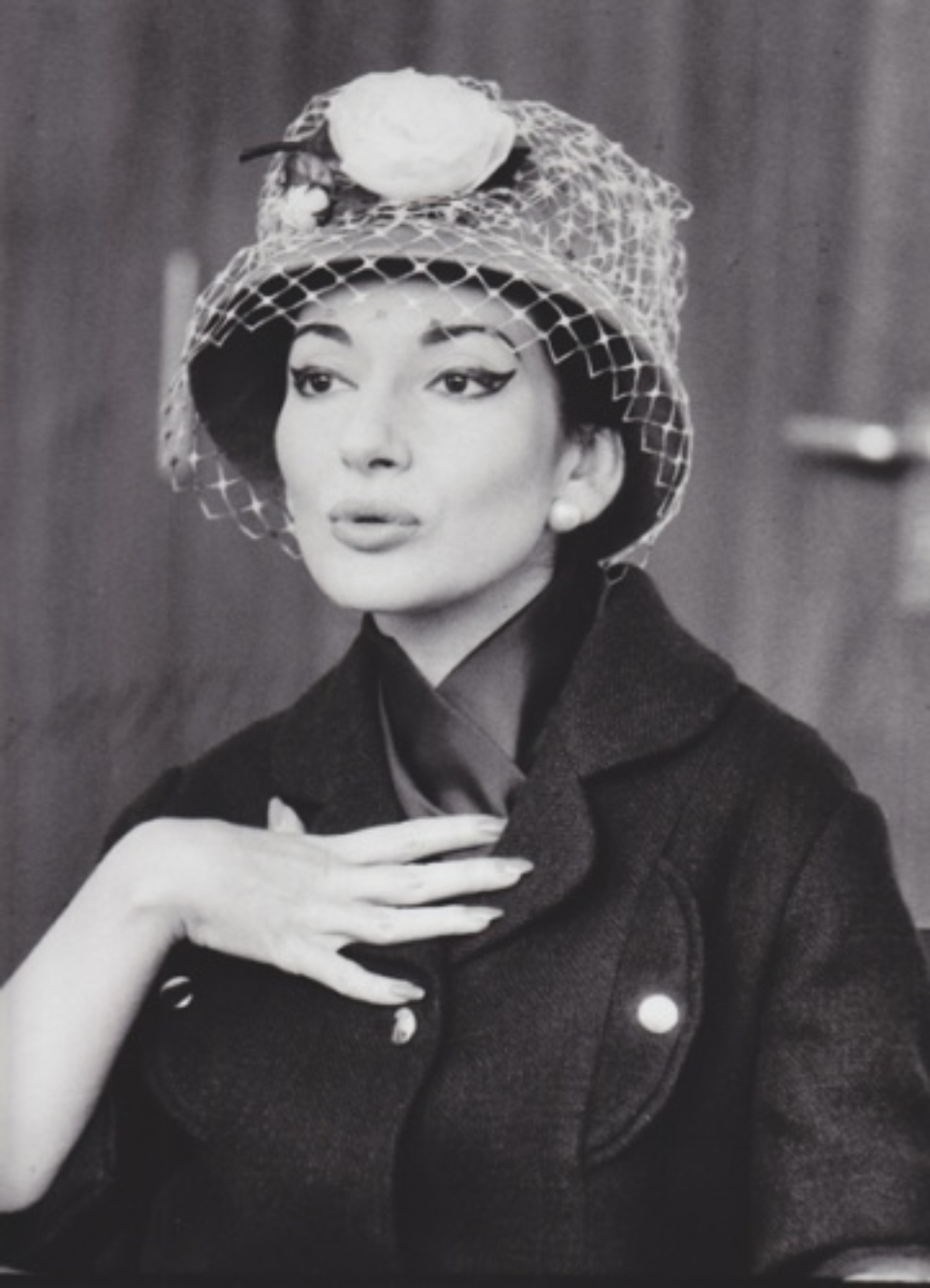 Robert Lebeck Maria Callas in Stuttgart Gelatin Silver Print Printed later Signed, titled and dated