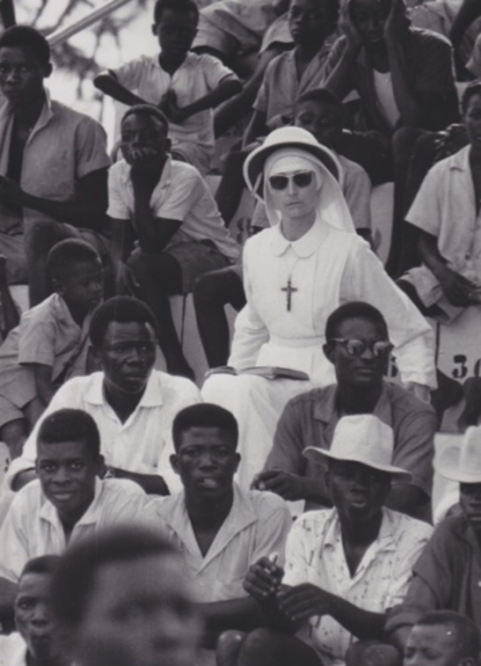 Robert Lebeck Im Fußballstaddion von Lomé Togo, 1960 Gelatin Silver Print Printed later