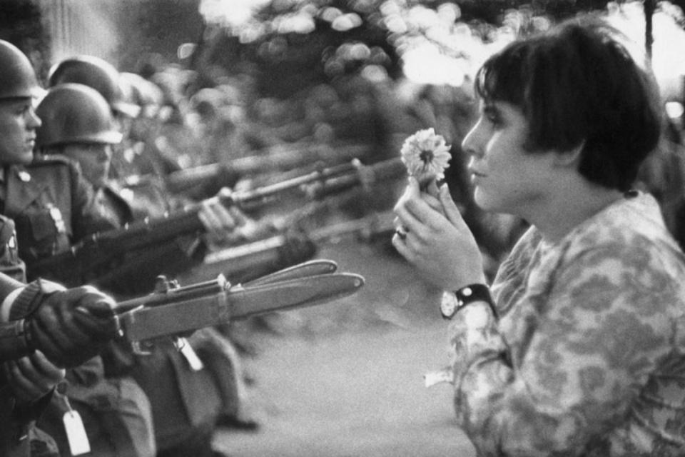 "Marc Riboud: ""Washington DC"", Anti Vietnam Demo Washington, 1967 Silver Gelatin Print"