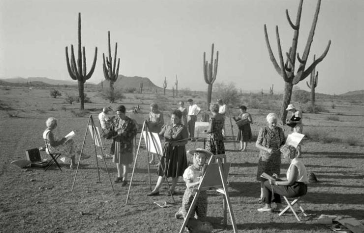 Max Scheler Malkurs für wohlhabende Pensionärinnen, Arizona, USA 1962 Modern gelatin silver print 40 x 50 cm