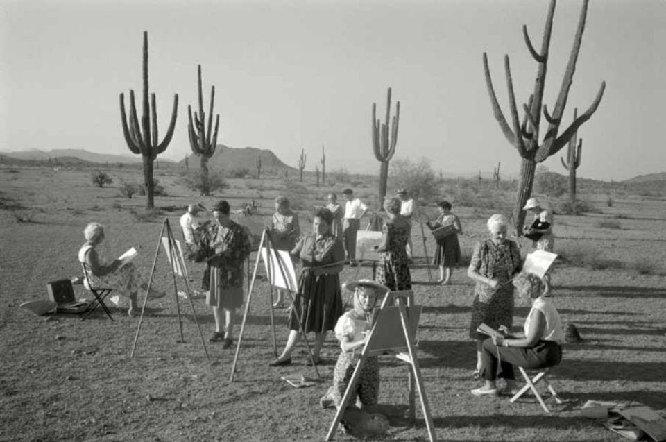 Max Scheler Malkurs für wohlhabende Pensionärinnen, Arizona, USA 1962