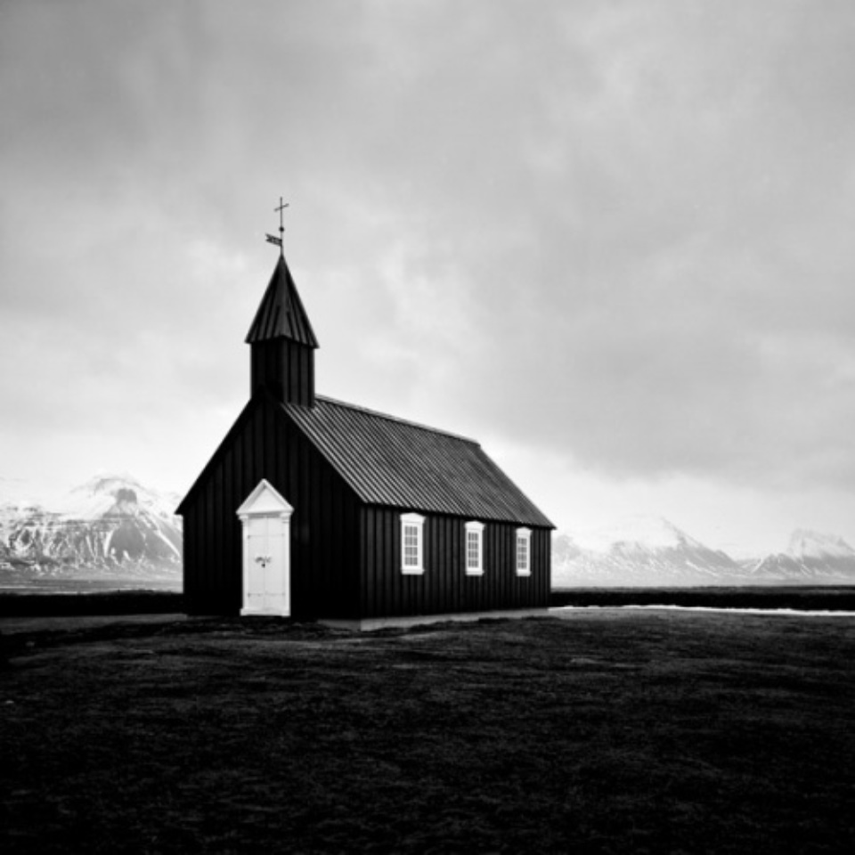 Michael Schlegel Black Church Iceland, 2011 Gelatin silver print Signed, titled, dated and numbered on verso 30 x 30 cm, 50 x 50 cm, 75 x 75 cm