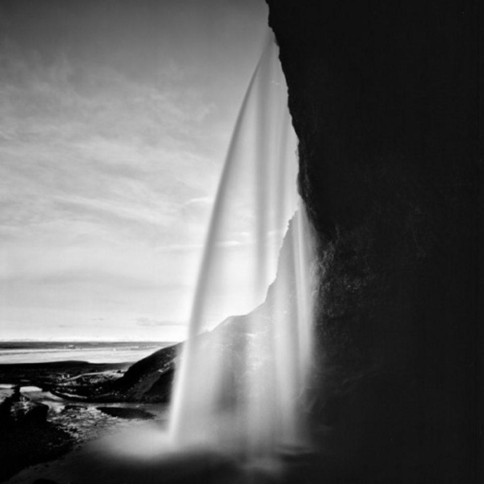 Michael Schlegel Seljalandsfoss IV Iceland, 2011 Gelatin silver print Signed, titled, dated and numbered on verso 30 x 30 cm, 50 x 50 cm, 75 x 75 cm