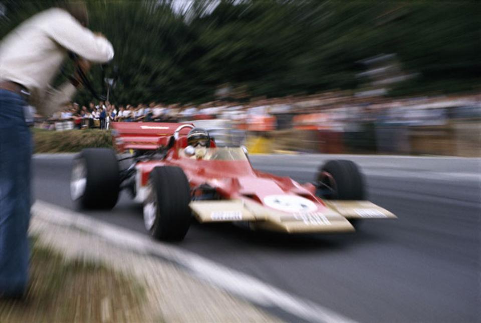 Rainer Schlegelmilch Lotus 72 in Brands Hatch 1970