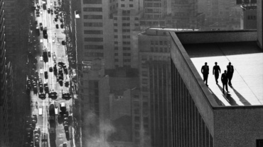 René Burri Men on Rooftop Sao Paulo, Brazil, 1960 Signed, titled and dated on verso Gelatin silver print, printed later