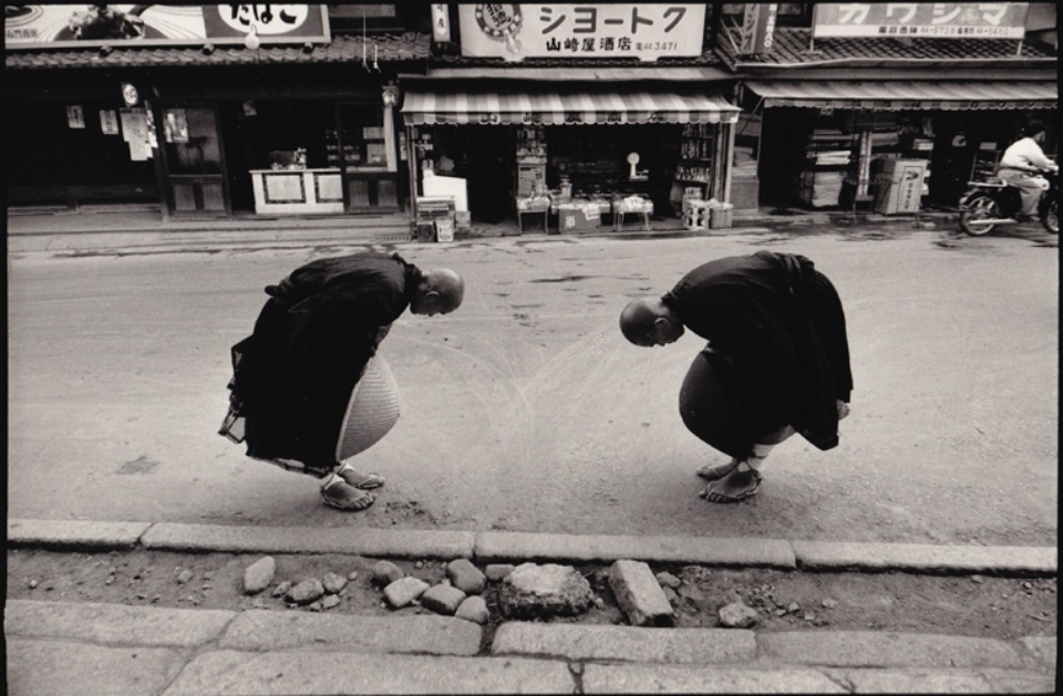 René Burri Zen-Mönche Kyoto, 1961 Signed, titled and dated on verso Gelatin silver print, printed later