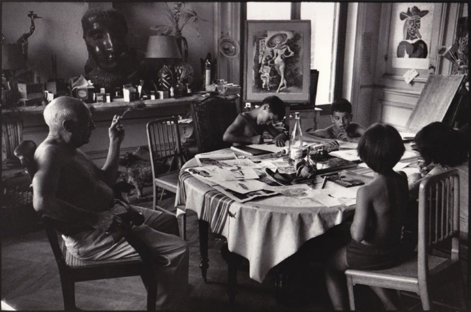 René Burri Pablo Picasso, Villa La Californie Cannes, 1957 Signed, titled and dated on verso Gelatin silver print, printed later