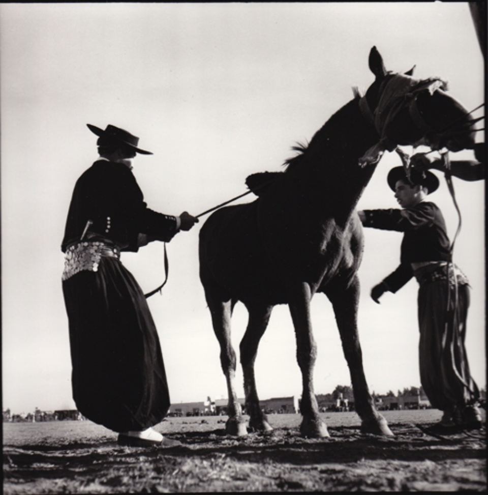 René Burri Gauchos training Horses Argentina, 1958 Signed, titled and dated on verso Gelatin silver print, printed later
