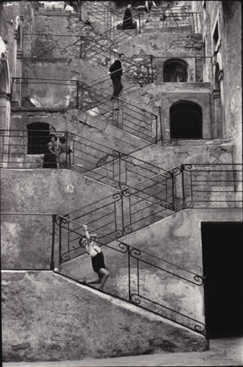 René Burri Leonforte Sicily, Italy, 1956 Signed, titled and dated on verso Gelatin silver print, printed later