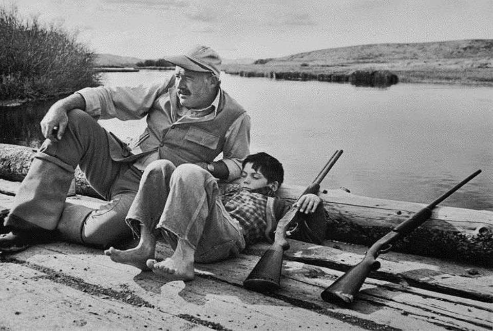 Robert Capa Hemmingway & Son 1941 Gelatin Silver Print
