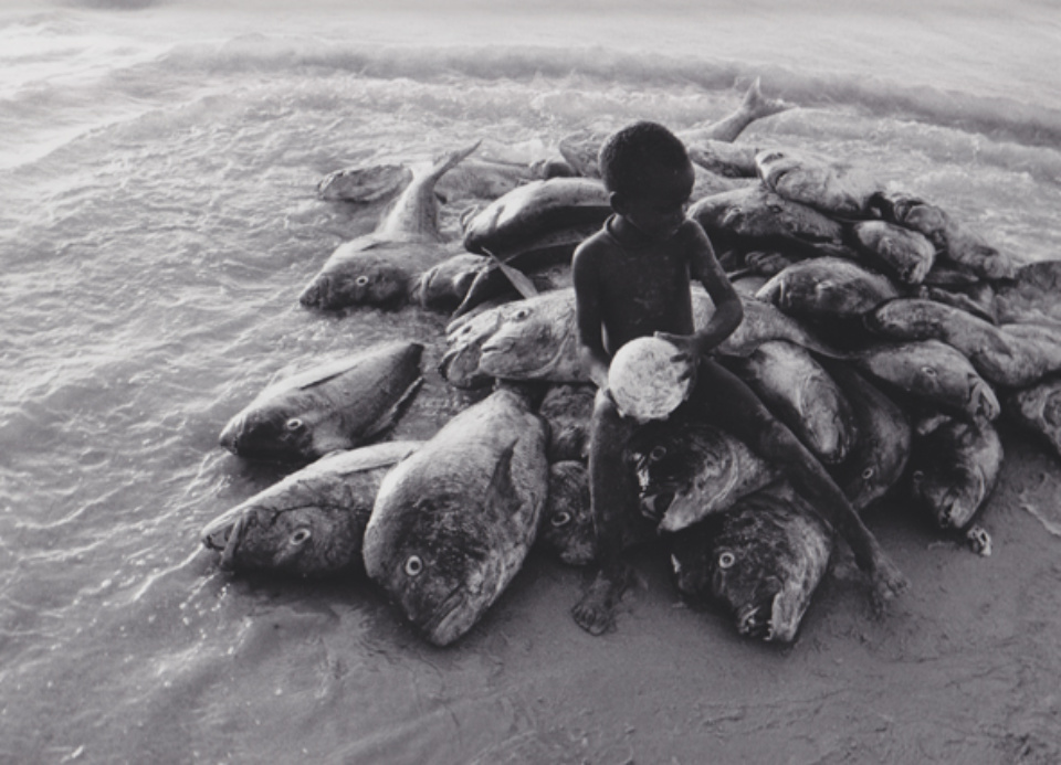 Robert Lebeck Am Strand von Cayar Senegal, 1960 Gelatin Silver Print Printed later Signed, titled and dated 30 x 40 cm