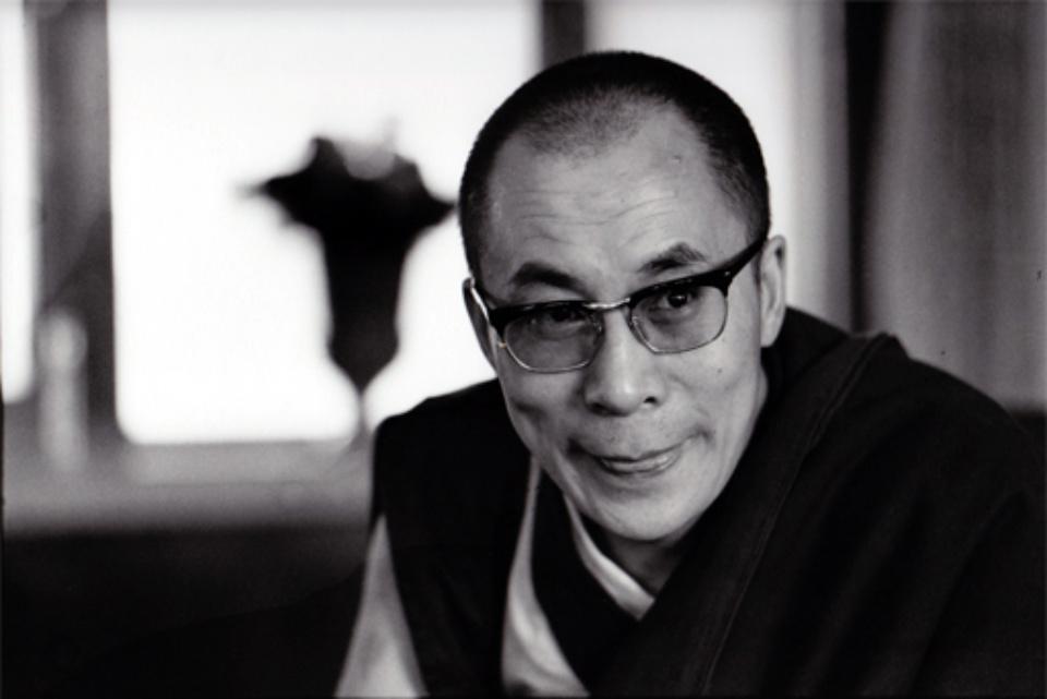 Robert Lebeck Dalai Lama Gelatin Silver Print Printed later Signed, titled and dated