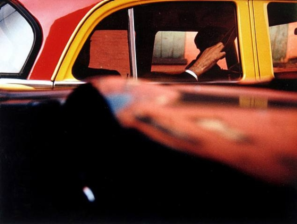 Saul Leiter Taxi New York, 1957 Chromogenic print, printed later Signed on verso 28 x 35 cm