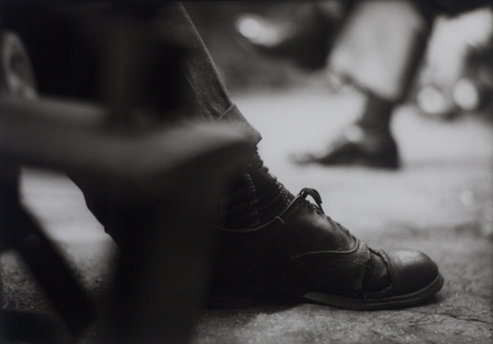 Saul Leiter Shoe c. 1950 Gelatin silver print, printed later Signed and numbered on verso Ed. 25