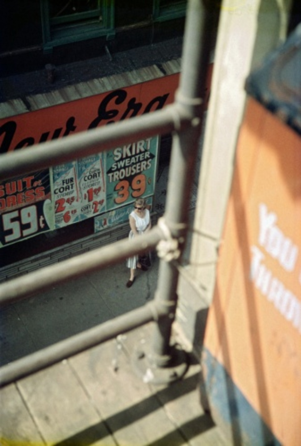 Saul Leiter Woman Waiting 1958 Chromogenic print, printed later Signed on verso 50 x 40 cm Ed. 10