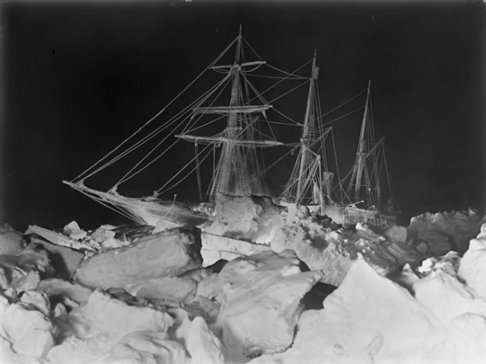 Frank Hurley The Endurance beset by pack ice 1915