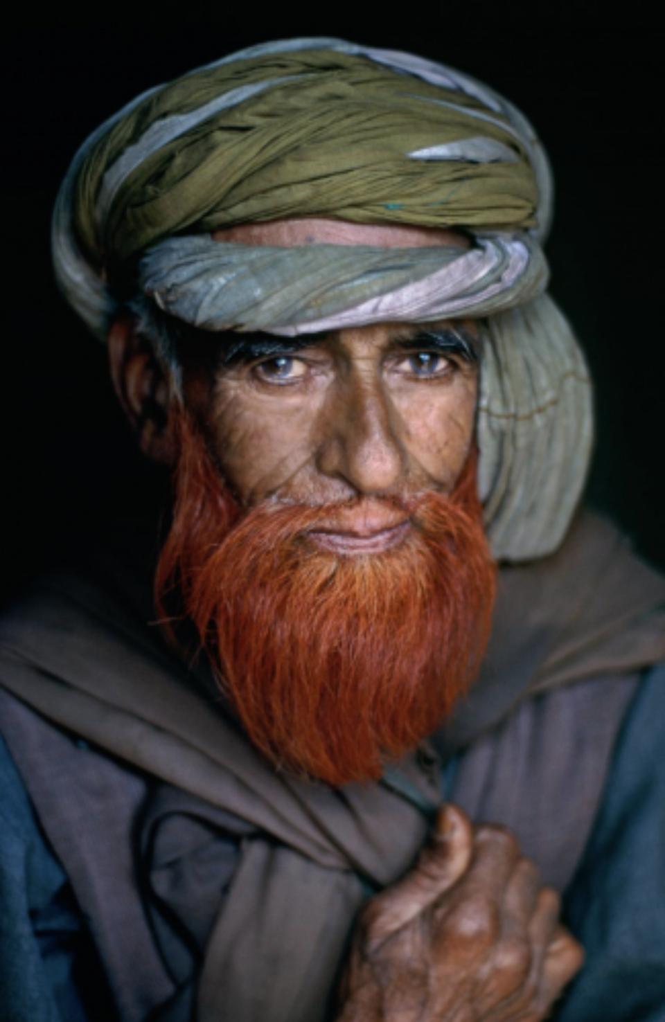 Man with henna beard Srinagar, Kashmir, 1995