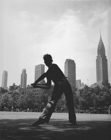 Fred Stein. Ball Field. New York, 1946