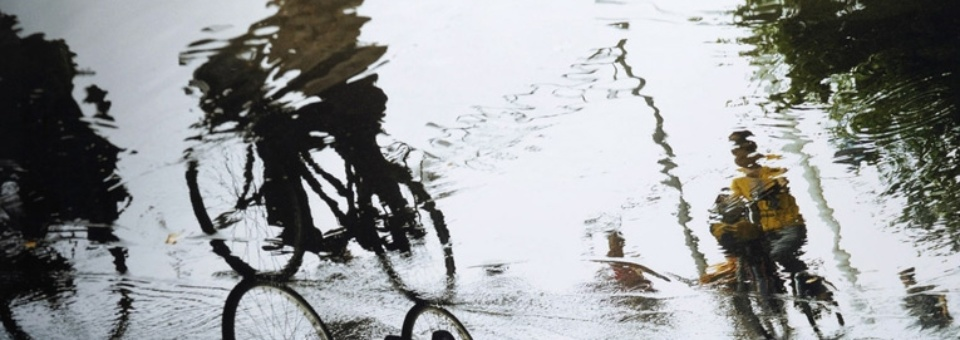 Sylvia Plachy Cyclists in the Rain East Coast of China, 2004 C-Print