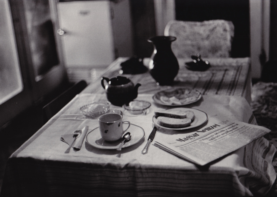 Sylvia Plachy Breakfast at Home Budapest, 1972 Signed, titled and dated on verso Gelatin silver print, printed later