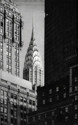 Tom Baril: Chrysler Building from Madison Ave. New York, 1999 Photogravure Signed, titled and dated 26 x 32,5 cm