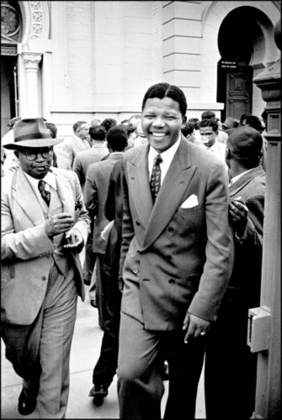 Jürgen Schadeberg Nelson Mandela during the Treason Trial Pretoria, 1958 Signed, titled and dated Gelatin silver print, printed later