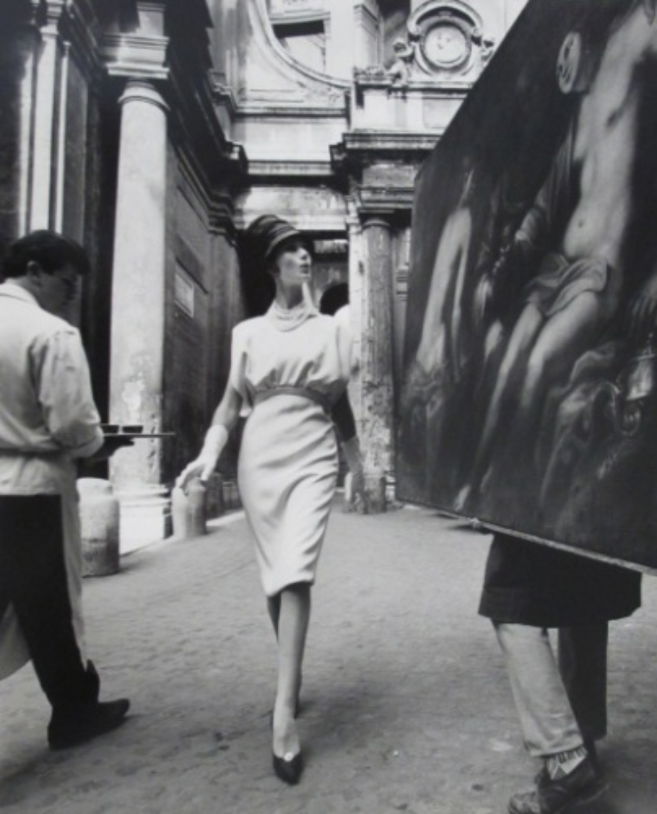 William Klein: Simone, Painting and Coffee Rome, 1960 Gelatin silver print, printed later Signed 60 x 50 cm