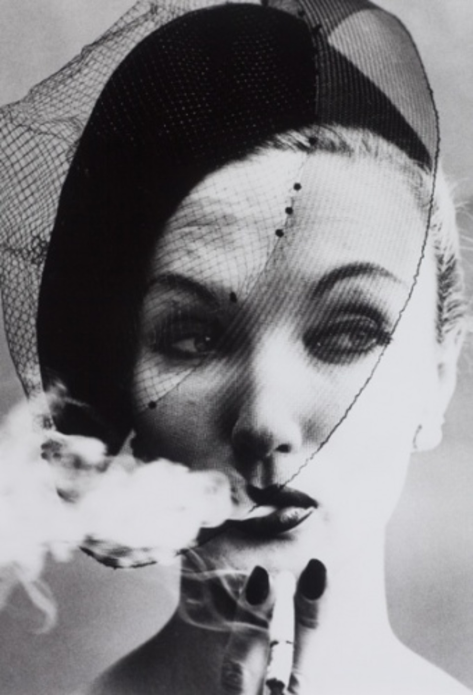 William Klein: Smoke and Veil (Vogue) Paris, 1958 Gelatin silver print, printed later Signed, titled, and dated on verso 50 x 40 cm