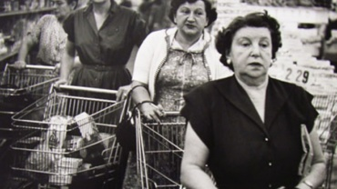 William Klein Four Women, Supermarket 1955 Signed, titled and dated on verso Gelatin silver print, printed later