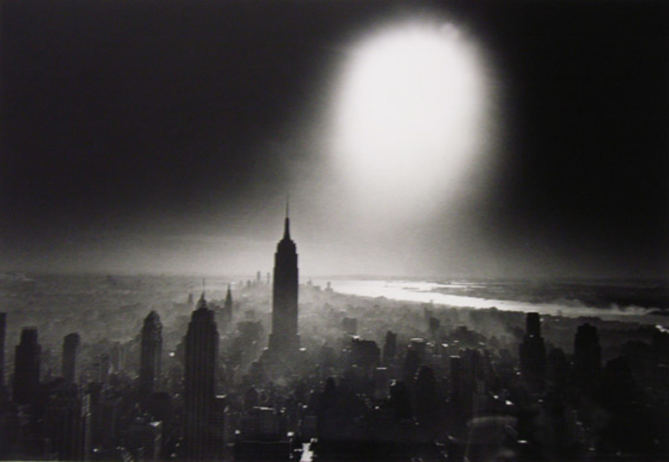 William Klein Atomic Bomb Sky New York, 1955 Signed, titled and dated on verso Gelatin silver print