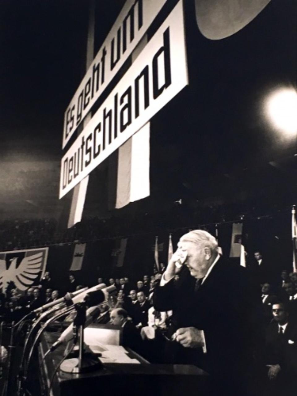 Max Scheler Ludwig Erhard im Wahlkampf Dortmund 1965 Gelatin Silver Print
