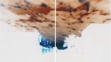Maciej Markowicz: Sunrise at Johnson Street Brooklyn, New York, May 9th 2016, Diptych: Two Unique Chromogenic Paper Negatives 127 x 153.5 cm