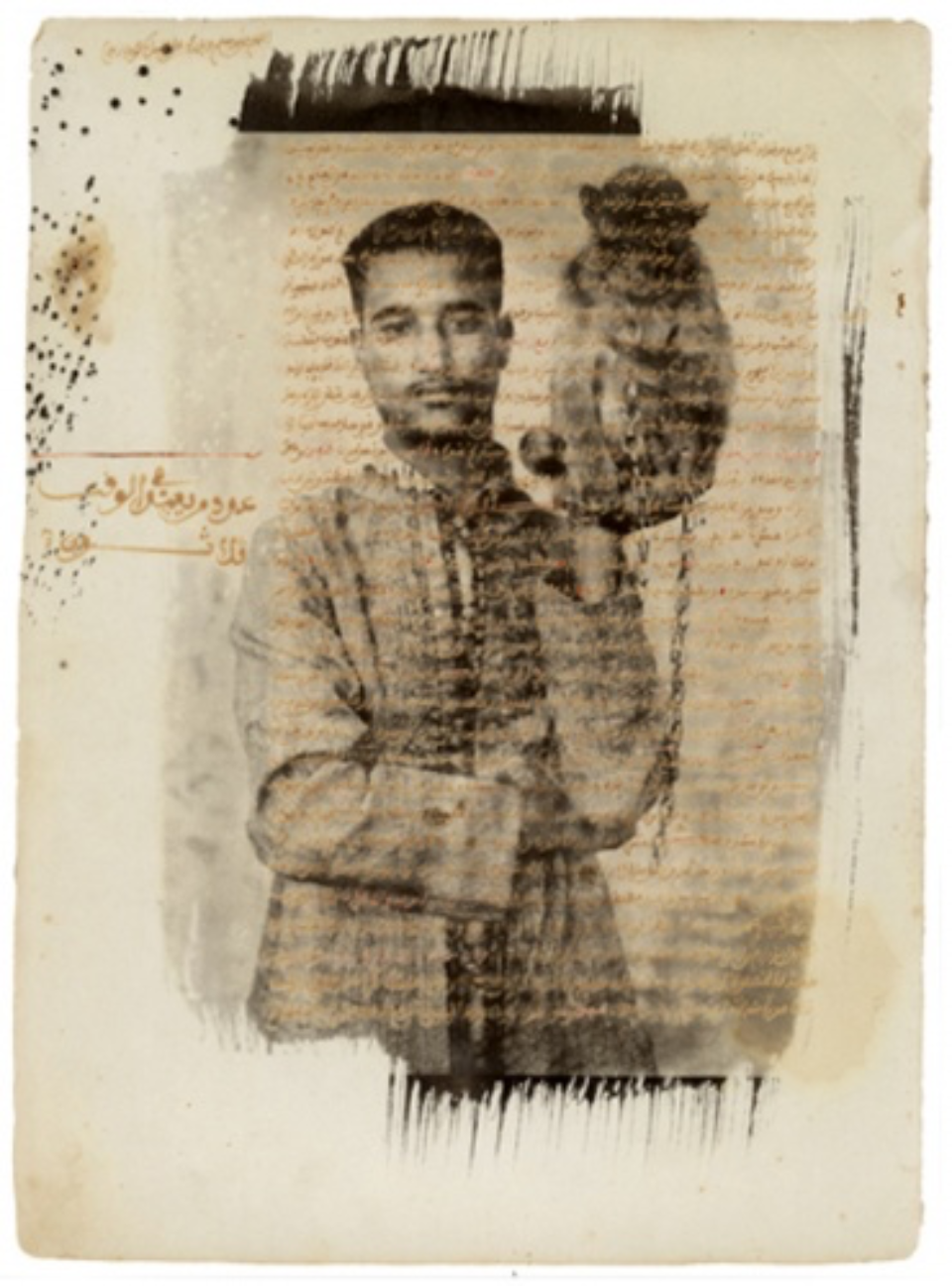 Albert Watson: Damlak Hossine with his Monkey Marrakech, 1997 On ancient paper Archival pigment print Signed, titled, dated and numbered on verso 76 x 61 cm Ed. 25