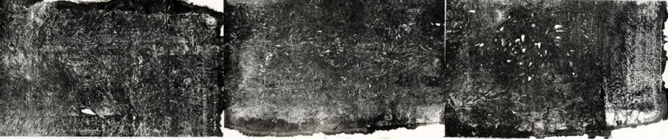 Zheng Chongbin: Organically shaped geometry 2012 Ink, acrylics and wash on xuan paper L 320 cm x H 78 cm