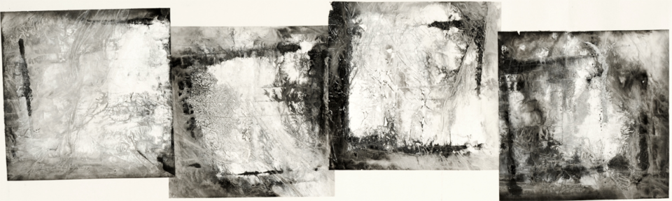 Zheng Chongbin: Four Overlapped Atmospheres (detail) 2012 Ink, acrylics and wash on xuan paper L 233 cm x H 58 cm