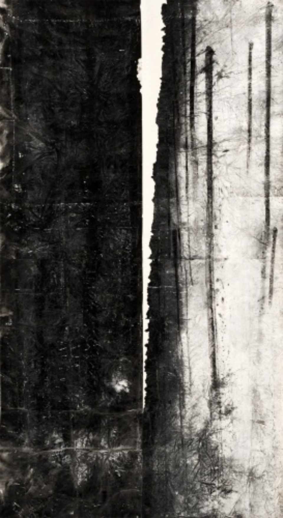 Zheng Chongbin: Slanted light 2011 Ink, acrylics and wash on xuan paper L 190 cm x H 390 cm