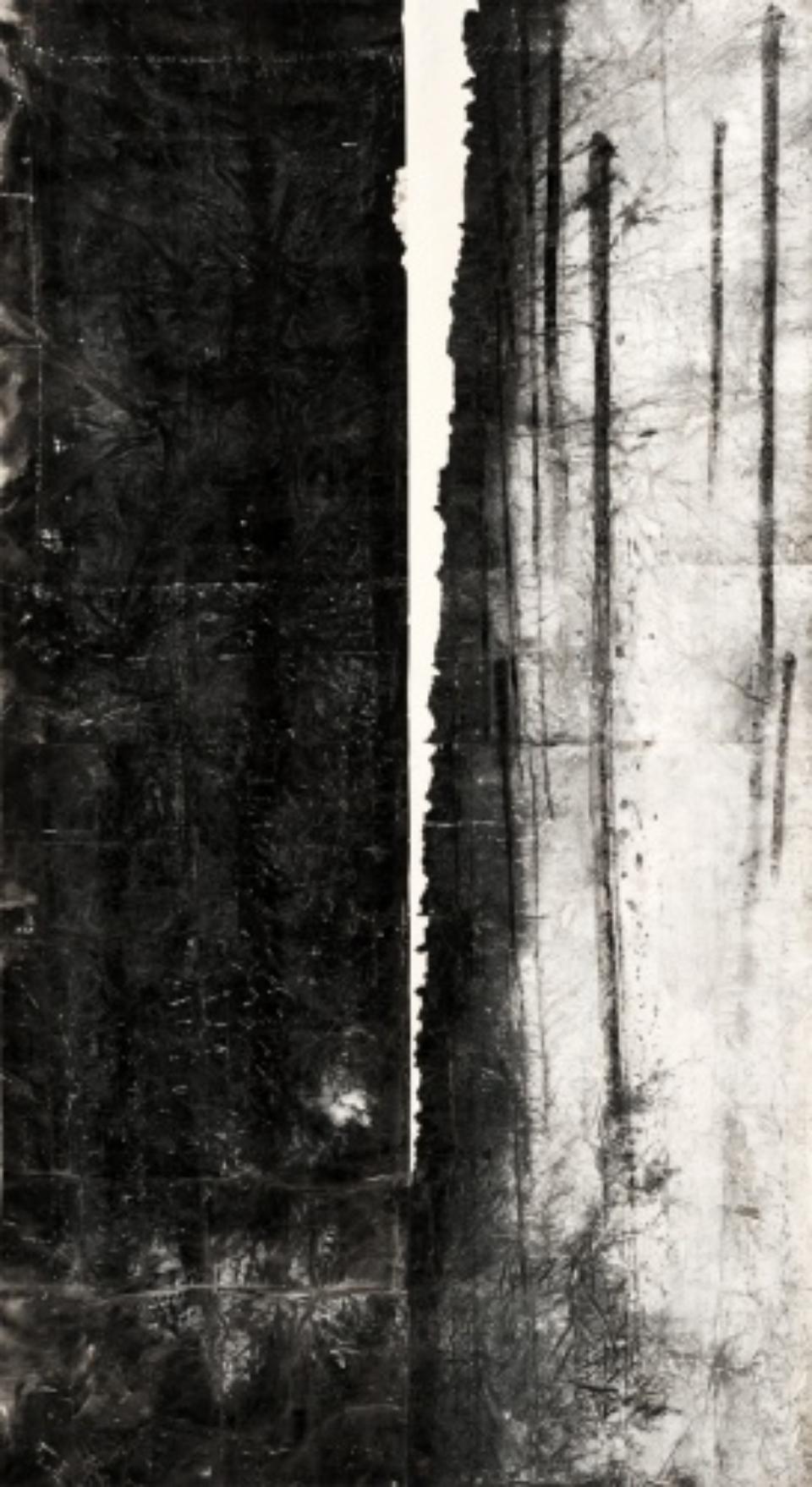 Zheng Chongbin: Slanted light 2011 Ink, acrylics and wash on xuan paper L 190 cm x H 390 cm