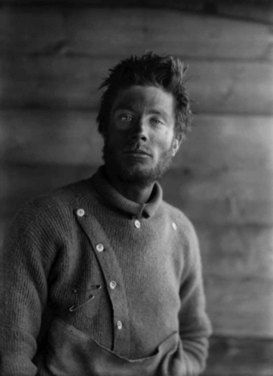 Herbert G. Ponting: Portrait of B. Day on return from the Barrier 21.12.1991 Embossed on recto, numbered on verso Modern Platinum palladium print Ed. of 30