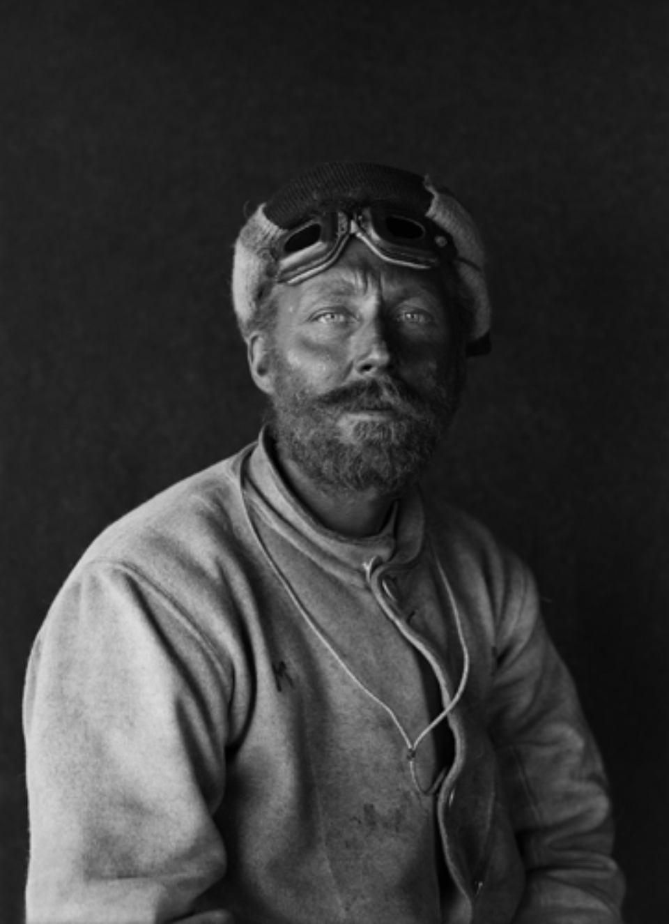 Herbert G. Ponting: Portrait of C.H. Meares on his return from the Barrier January 1912 Embossed on recto, numbered on verso Modern Platinum palladium print Ed. of 30