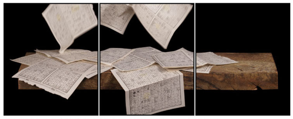 Joachim Froese: Written in the past 9 2007 3 archival pigment inkjet prints 45 x 115 cm Ed. 6/12