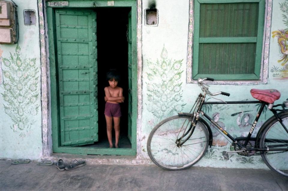 Amy Lyne: Boys and Bicycle Pushkar, 2003 C-Print