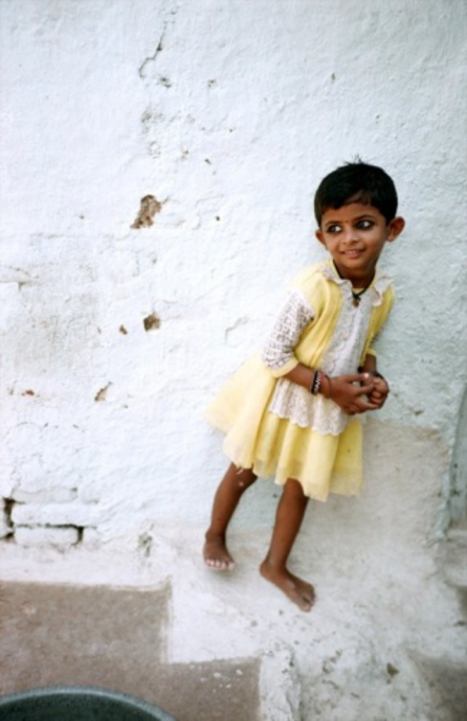Amy Lyne: Girl In Yellow Khajuraho, 2003 C-Print