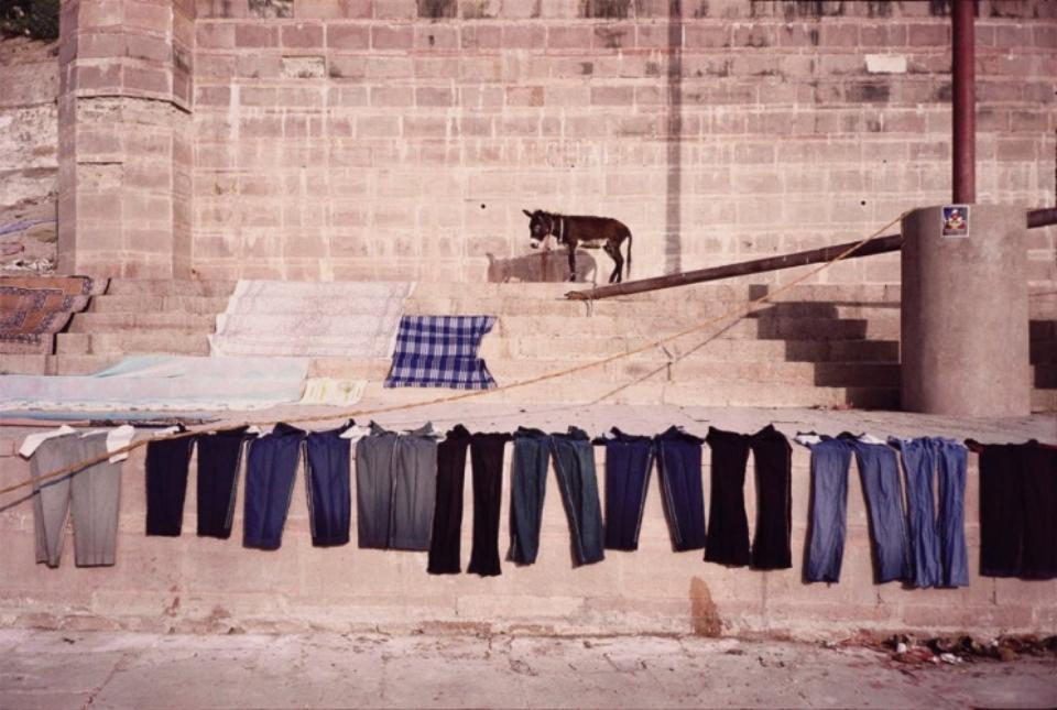 Amy Lyne: Donkey and Jeans Varansi, India, 2003 C-Print