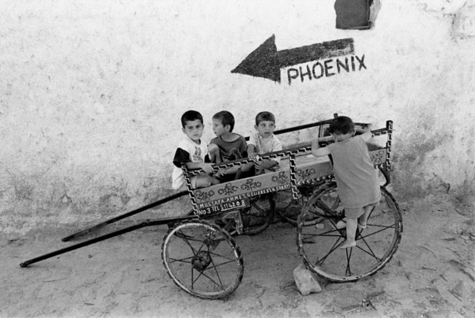 Amy Lyne: Children on Phoenix Cart Turkey, 1997 Gelatin silver print