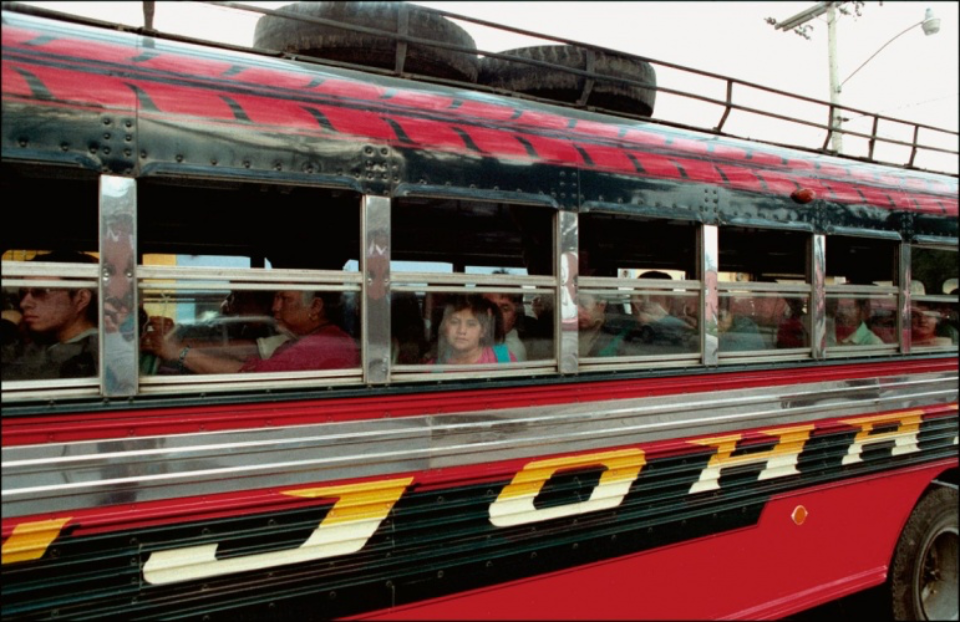 Amy Lyne: Child on Bus Antigua, Guatemala
