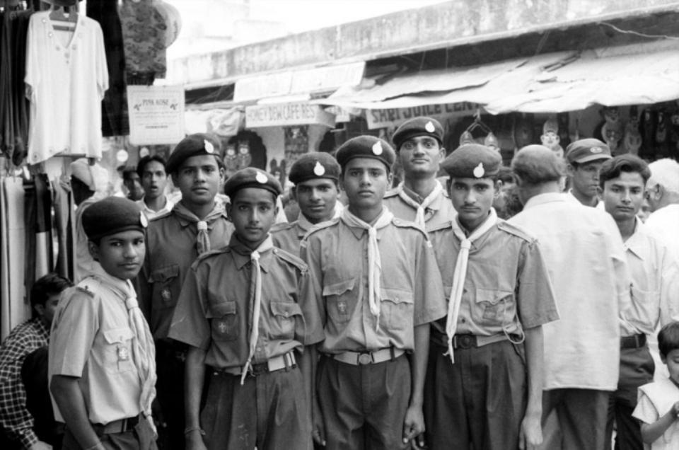 Amy Lyne: Boy Scouts Pushkar, 2003 Gelatin silver print