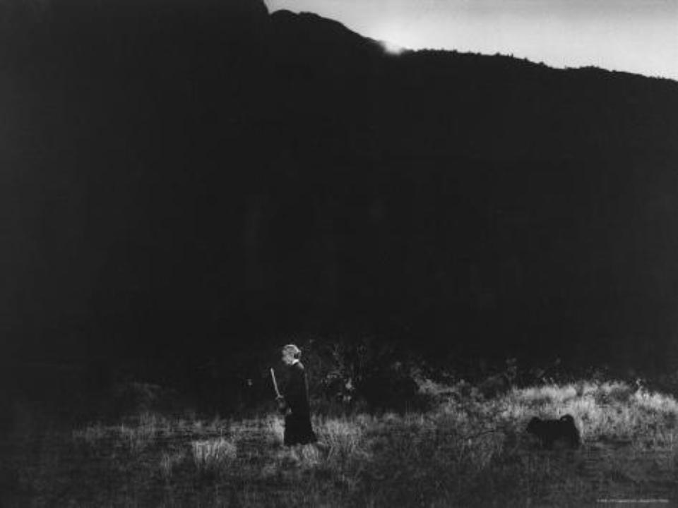 John Loengard. 'Morning Walk' (Georgia O'Keeffe) 1966 Gelatin silver print